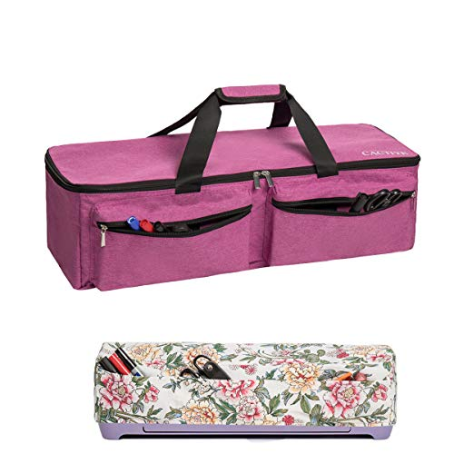 CACTIYE Carrying Bag Compatible with Cricut Explore Air and Maker, Waterproof Tote Bag Compatible with Cricut Explore Air and Supplies (Pink, 1+1)