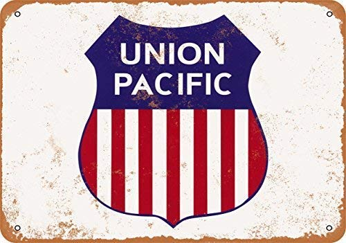 (Metal Tin Sign Union Pacific Railroad Wall Plaque Aluminum Sign for Wall Decor 11.8x7.8 Inch)