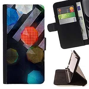 GIFT CHOICE / Billetera de cuero Estuche protector Cáscara Funda Caja de la carpeta Cubierta Caso / Wallet Case for HTC Desire 820 // Cool Pedestrian Bright Umbrellas //