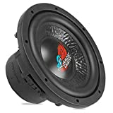 Lanzar Car Subwoofer Audio Speaker - 10in Black Non-Pressed Paper Cone, Die Cast Aluminum Basket, 4 Ohm Impedance, 1000 Watt Power and Rubber Surround for Vehicle Stereo Sound System - DCTS104