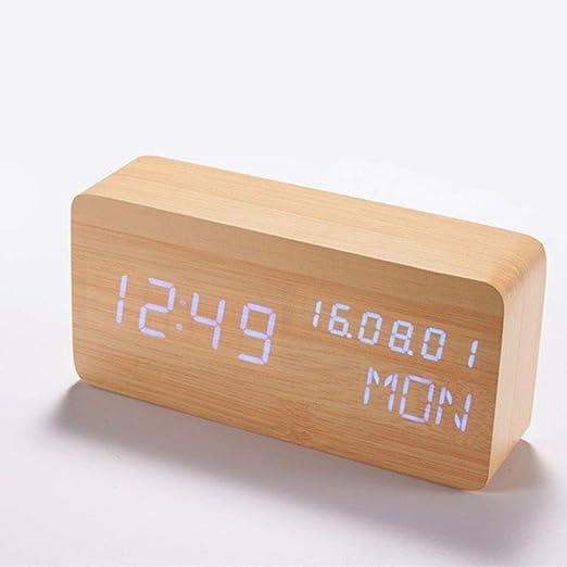 Li-lamp Reloj de sobremesa/Reloj Digital Multifuncional ...