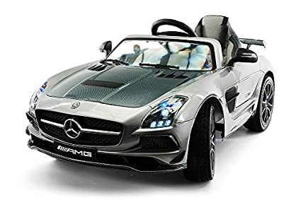 Mercedes Power Wheels >> 12v Mercedes Sls Amg Battery Power Ride On Kids Toy Car Led Wheels Mp4 Player With Remote Control Silver