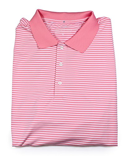 Vineyard Vines Tuckahoe Stripe Golf Polo W/O Strawberry