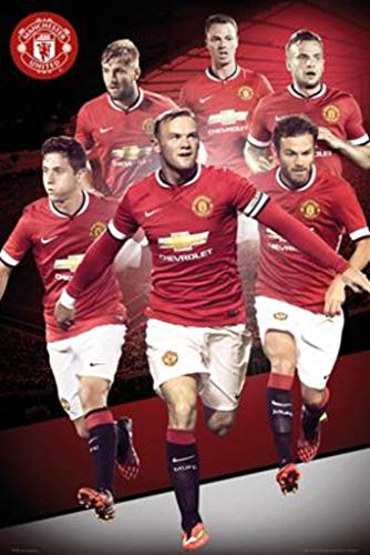 "Manchester United Player Collage 2014-2015 24""x36"" Art Print"