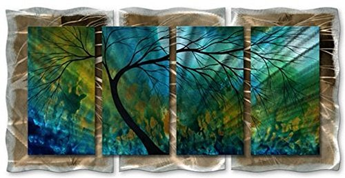 Megan Duncansspring movement modern home decor metal wall art by All My Walls