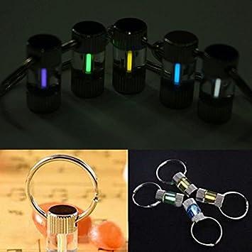 Paleo Mini fluorescencia tritio 15 años anillo de llavero ...
