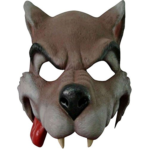 (Cartoon Wolf Mask Gray/Brown)