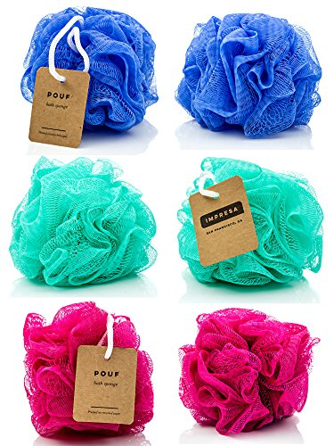 6-Pack Eco-friendly Loofah/Loofa/Mesh Bath and Shower Sponge