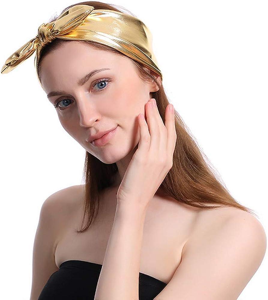 YAZILIND Twist Bow Wired Headbands Scarf Wrap Hair Hair Band Yoga Head Elastic Turban Accessories