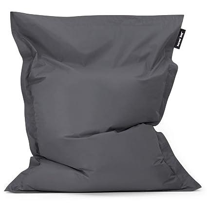 Bean Bag Bazaar Bazaar Bag - Pizarra Gris, 180cm x 140cm, Puf Gigante para Interiores y Exteriores – Puff Enorme, Ideal para Usar en el Hogar y el ...