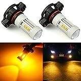 5202 amber led fog light bulbs - JDM ASTAR 1300 Lumens Extremely Bright 3030 Chips 5202 5201 LED Fog Light Bulbs, Amber Yellow (5202 5201)