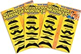 Self Adhesive Fake Mustache  Novelty - Set of 36 -  by Blue Ridge Novelty
