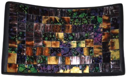 Mosaic Glass Tray, One of a Kind -