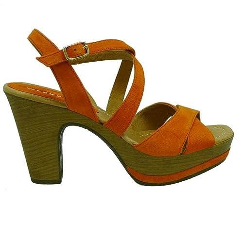 información para 49b45 bf7b2 WEEKEND Zapatos Mujer Sandalias 17462 Naranja 37: Amazon.es ...