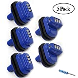 Trigger Lock 3 Digit Combination Gun Lock 5 Pack Fits Pistols Hand Gun Rifles Bb Gun Shotguns Blue (5PCS)