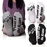 MENTIANA Funny Socks Gifts for Women/Mom/Men/Queen Of the House (Queen OF the House)