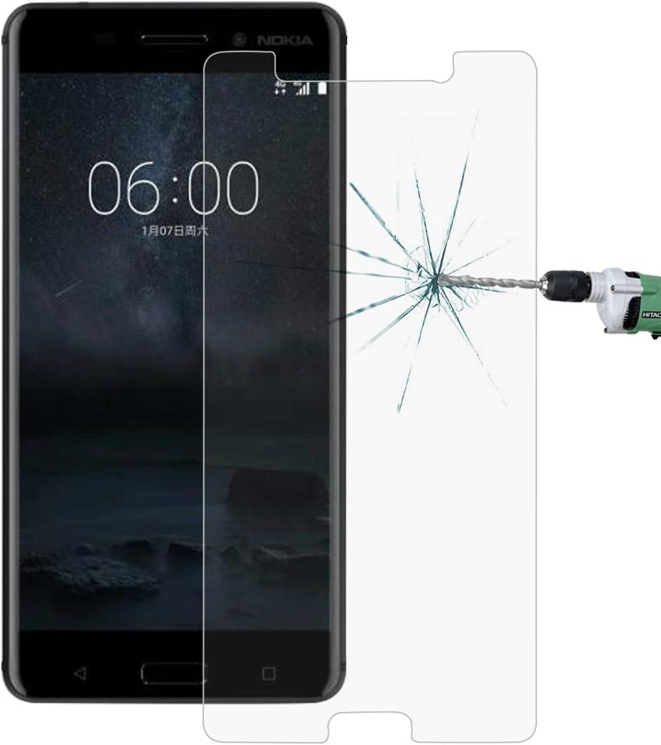 No Retail Package LGYD for 50 PCS for Nokia 6 0.26mm 9H Surface Hardness Explosion-Proof Non-Full Screen Tempered Glass Screen Film