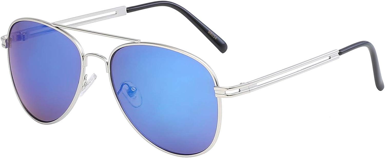 Eyeride Aviator Blue Mirror Sunglasses