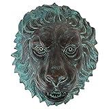 Design Toscano Florentine Lion Head Spouting Bronze Garden Wall Sculpture For Sale