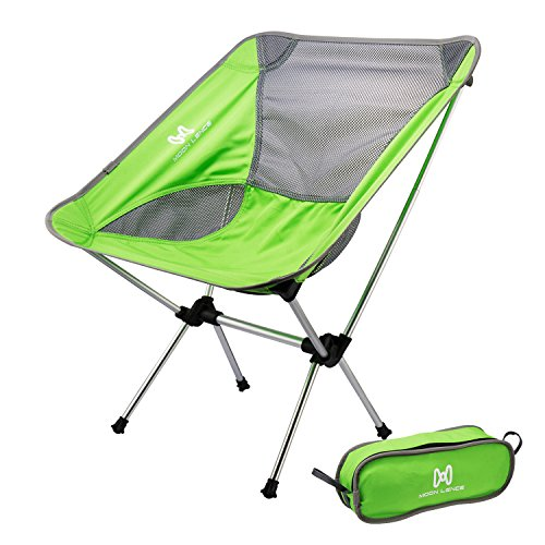 Moon Lence Ultralight Portable Folding Camping Backpacking Chairs with Carry Bag - Bags Cyan
