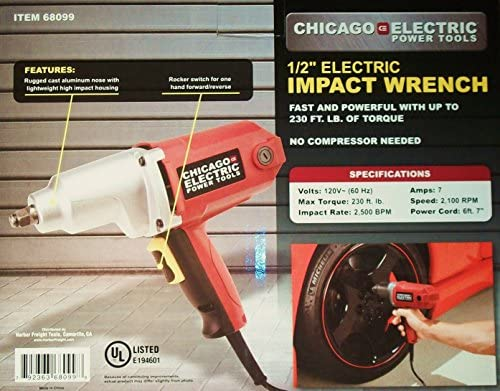 NEW Electric 1 2 in Impact Wrench Gun Reversible Corded REMOVES LUG NUTS EASILY