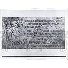 1963 Press Photo Nicola Sacco Bartolomeo Vanzetti Memorial Bronze Casting