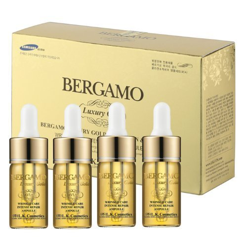 (Collagen and Caviar Face Serum, Bergamo 4 pcs / 13ml each, Nutrition for skin, Normal to dry Skin)