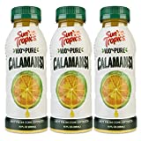 Sun Tropics 100% Pure Calamansi Puree, 10 oz, 3 Count, Not From Concentrate, Citrus Juice