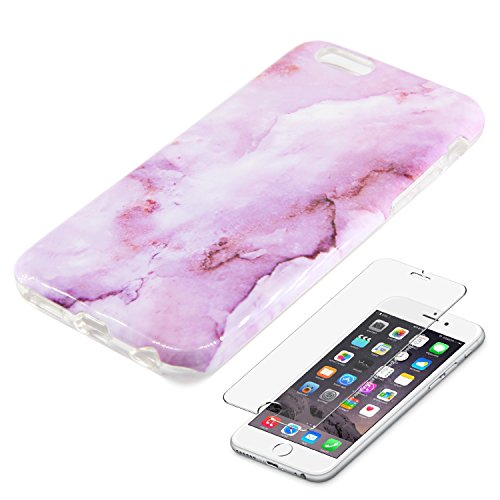 Marble Purple Protective Tempered Protector