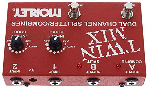 Morley Twin Mix Dual Channel Mixer/Combiner Pedal, Red by MORLEY