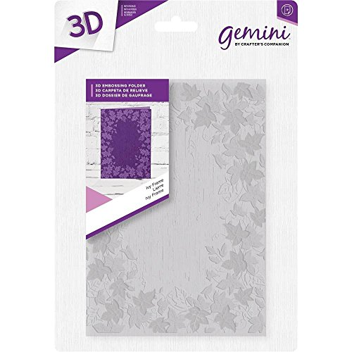 Crafter's Companion 5'' x 7'' 3D Card Embossing Folder - Festive Ivy Frame by Gemini
