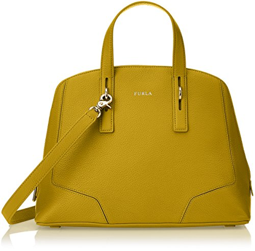Furla Perla Satchel Ber9 VMT Leather Girasole Shoulder Bag by Furla