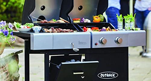 Outback Premium Cover to fit Dual Fuel 2 Gas//Charcoal Barbecue 370640