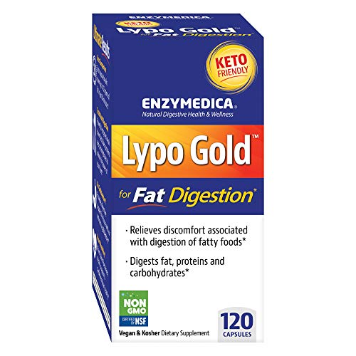 Enzymedica, Lypo Gold, Keto Supplement to Support Fat Digestion, Vegan, Gluten Free, Non-GMO, 120 Capsules (120 Servings) (Best Way To Ease Constipation)