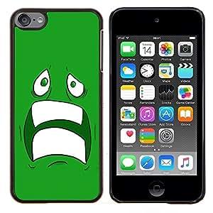 Queen Pattern - FOR Apple iPod Touch 6 6th Generation - cool sad scared face ugly fear cartoon green teeth - Cubierta del caso de impacto con el patr???¡¯???€????€&scaron