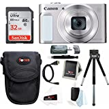 Canon PowerShot SX620 HS Digital Camera (Silver) with 32GB Deluxe Bundle