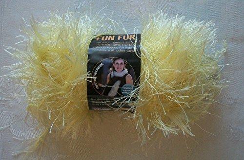 (Lion Brand Fun Fur Eyelash Yarn - Soft Yellow )