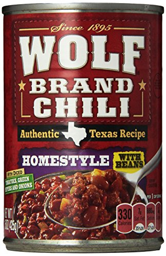 WOLF BRAND Homestyle Chili With Beans, 15 oz.