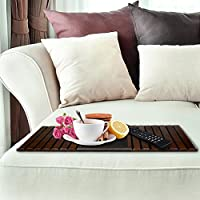 Stupendous Kleeger Sofa Arm Tray Table Wood Side Table Tray Flexible Portable Folding Couch Drink Holder Spiritservingveterans Wood Chair Design Ideas Spiritservingveteransorg