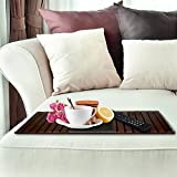 Kleeger Sofa Arm Tray Table: Wood Side Table
