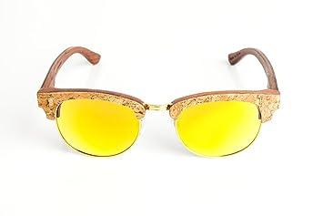 Gafas de sol de madera y corcho - Laurel: Amazon.es ...