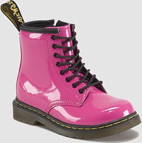 Dr. Martens Brooklee Boot (Toddler),Hot Pink Patent Lamper,8 UK (9 M US (Doc Martens Kids Boots)