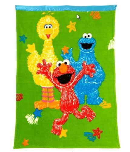 (Sesame Street Toddler Blanket - Elmo & Friends)