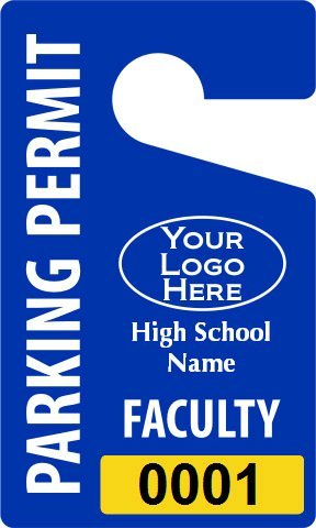Plastic ToughTags for High School, Plastic Permit Hang Tag, Economy, 50 Tags / Pack, 3'' x 5''