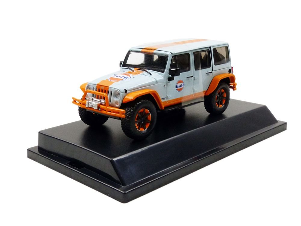 Jeep Wrangler Unlimited Gulf Racing Edition 1 43 Scale Diecast Model by Greenlight