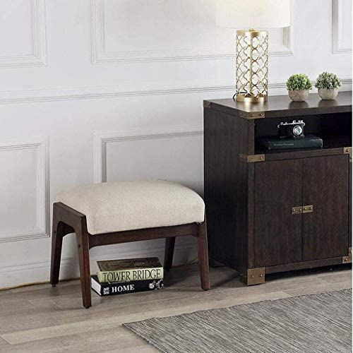 YXDEW Moderne en Bois Massif Tissu Repose-Pieds, Nordic Room Living Sofa Pedal Rubber Shoe Tabouret 22,0 * 17,0 * 16,5 Pouces Chaise