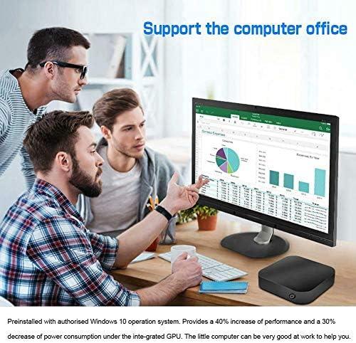 Nrpfell PC 10 Wintel Pro Atom Quad Core Intel Z8350 1.84GHz 4GB / 64GB Dual 2.4G / 5G WiFi 100M LAN Ordinateurs de Bureau PC EU Plug