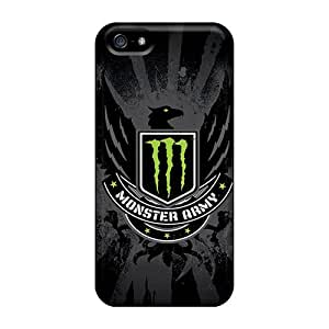 Protector Cell-phone Hard Covers For Iphone 5/5s (cOW13107lwnA) Custom Vivid Monster Army Pictures