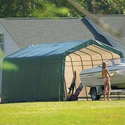 ShelterLogic 13'x24'x10' Peak Style Shelter in Green