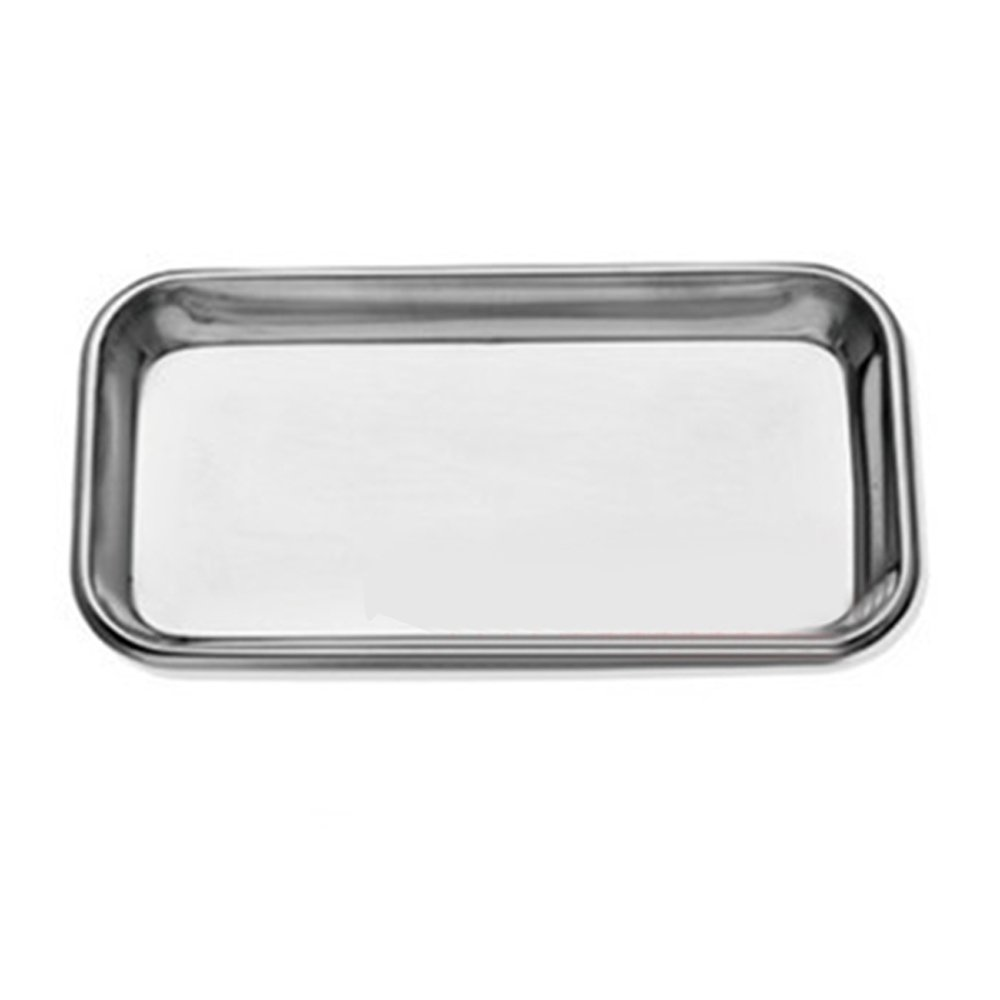 Fencia Dental Medical Trays Stainless Steel Instrument Tray, 1 PCS Dental Stainless Steel Medical Tray Lab Instrument High Quality Useful 8.46 x 4.13 / 215 mm x 105 mm